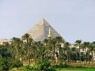 Seltene Ansicht der Pyramide von Gizeh
