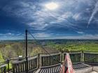 Geisingbergturm -- 360° Panorama auf dem Geisingbergturm in Altenberg.